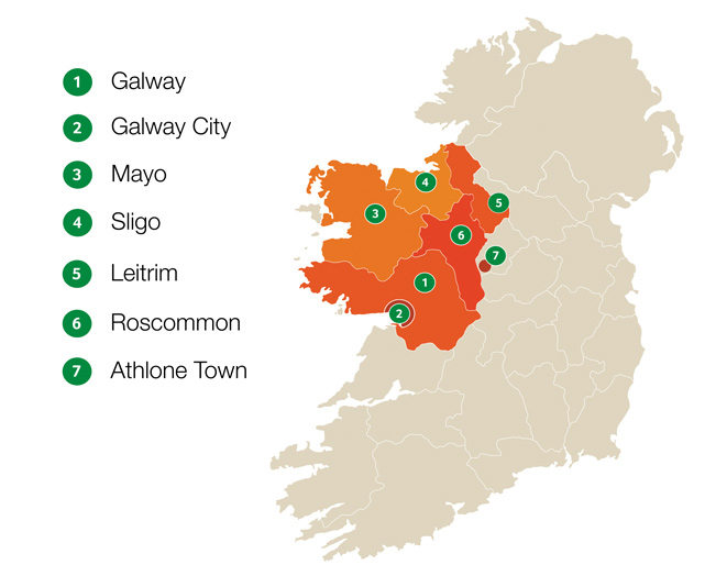 Areas we Service | waste | bin collection | Galway | Mayo | sligo | leitrim | roscommon