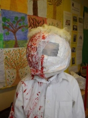 <h5>Largy National School</h5><p>Halloween masks made by the pupils in Largy NS.</p>
