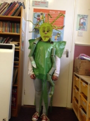 <h5>St John's N.S, Logboy.</h5><p>Rosie Ganley, 5th Class,  St. John's N.S., Logboy, Tulrahan, Claremorris, Co. Mayo. Rosie's DIY costume is Madusa the Snake Queen.</p>