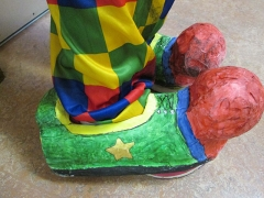 <h5>Gaelscoil Mhic Amhlaigh</h5><p>This pupil's shoes are made from plastic bottles.</p>