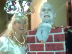 <h5>Princess & Humpty Dumpty </h5><p>This Spooky Recyclables costume is of a Princess & Humpty Dumpty.</p>