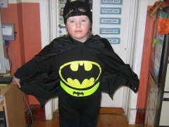 <h5>Cloonfour N.S, Rooskey, Co. Roscommon.</h5><p>One of the 12 pupils (ranging from Junior Infants to 6th Class) from Cloonfour NS, Rooskey, Co. Roscommon, dressed in their homemade  Halloween costumes.  They are applying for their first Green Flag in Litter and Waste at the end of November.</p>
