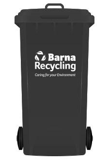 Barna Recycling Black Bin