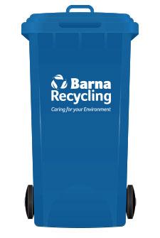 Barna Recycling Blue Bin