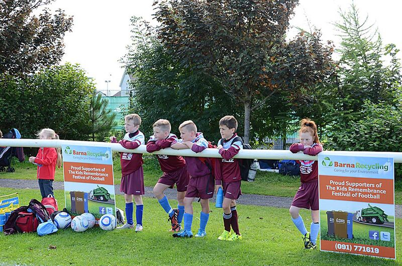 Barna Recycling Sponsors Kids Remembrance Festival of Football