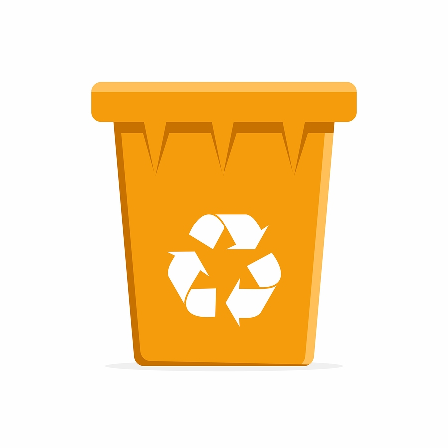 what goes in the orange recycling bin