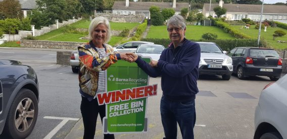 Alan Shattock Winner of 12 Months Free Bin Collection